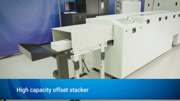 Learn about the capabilities of AcceleJet's new offset stacker.