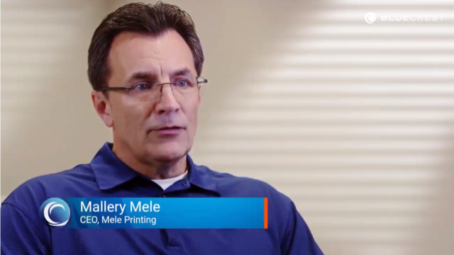 Mele Printing accelerates business with inkjet printing and finishing system.